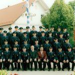Gruppenbild zur Einweihung Feuerwehrgerätehaus am 5. Juli 1998